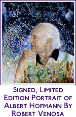 ART FOR RESEARCH - Original, Signed Albert Hofmann portrait by Roberto Venosa - psychedelic art - visionary art