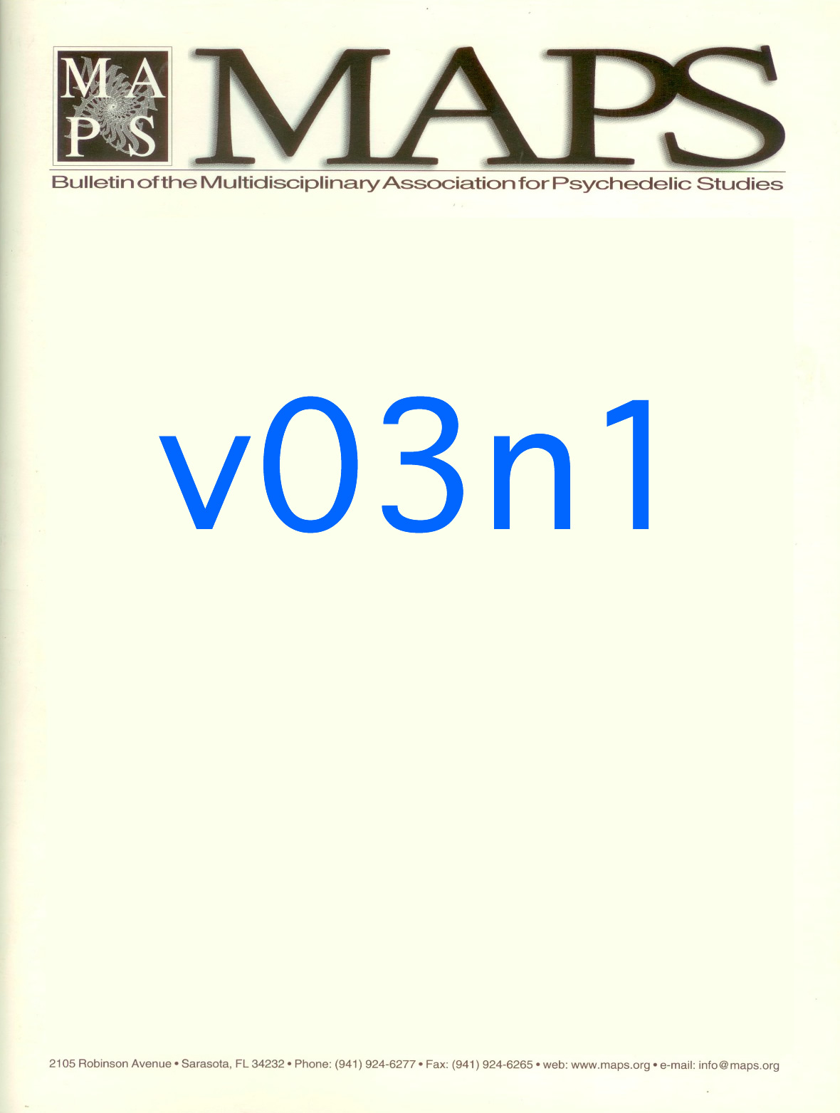 Winter 1991/92 Vol. 03, No. 1 The Rekindling of a Thousand Points of Light