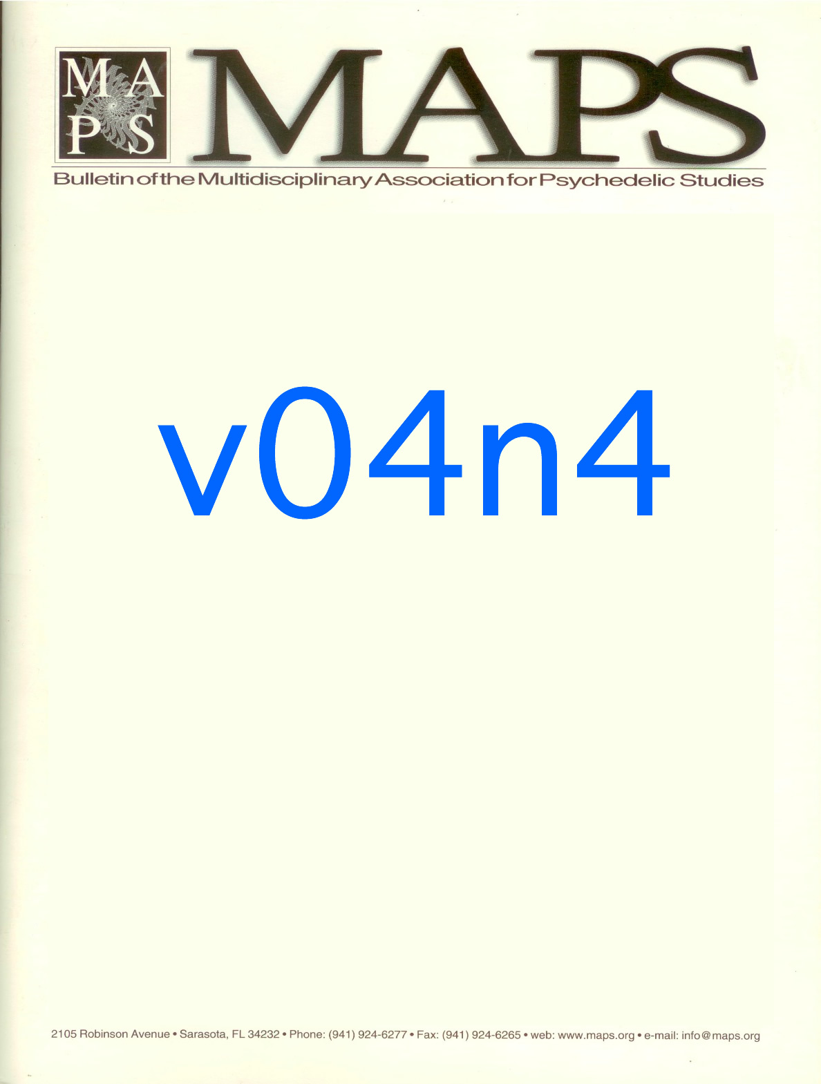 Spring 1994 Vol. 04, No. 4 Laying the Groundwork