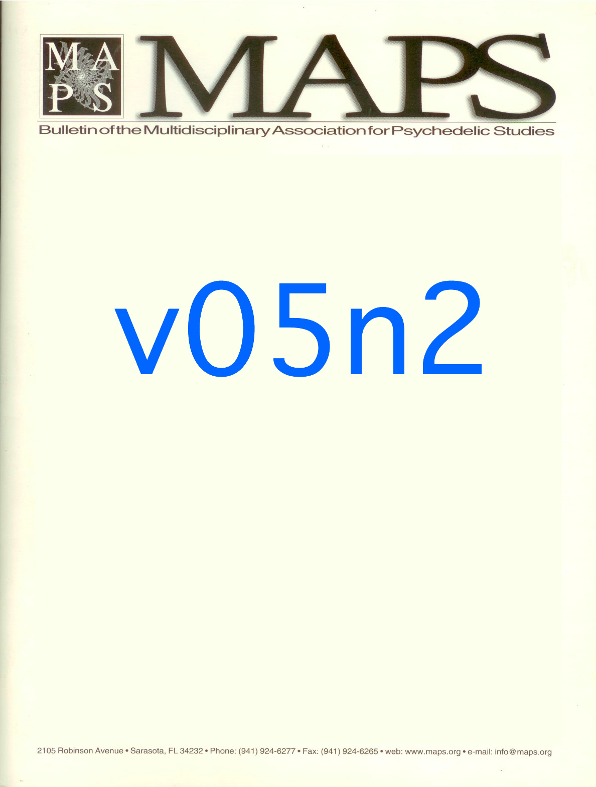 MAPS Bulletin Vol v No 2: Autumn 1994 - Front Cover Image - Psychedelic Art -  by