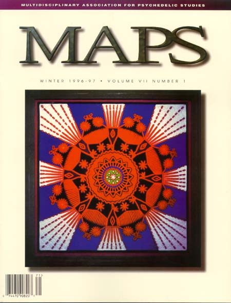 MAPS Bulletin Vol vii No 1: Winter 1996/97 - Front Cover Image - Psychedelic Art -  by