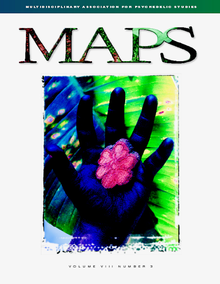 MAPS Bulletin Vol viii No 3: Autumn 1998 - Front Cover Image - Psychedelic Art -  by