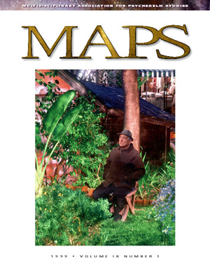 MAPS Bulletin Vol ix No 1: Spring 1999 - Front Cover Image - Psychedelic Art -  by