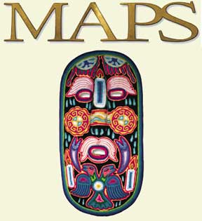 MAPS Bulletin Vol x No 3: Autumn 2000 - Front Cover Image - Psychedelic Art -  by