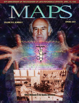 MAPS Bulletin Vol xiii No 1: Spring 2003 - Front Cover Image - Psychedelic Art -  by