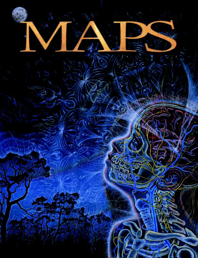 MAPS Bulletin Vol xiv No 2: Autumn 2004 - Front Cover Image - Psychedelic Art - Wonder (Zena Gazing at the Moon) by Alex Grey