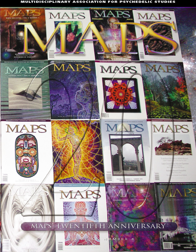 MAPS Bulletin Vol xvi No 1: Spring 2006 - Front Cover Image - Psychedelic Art -  by