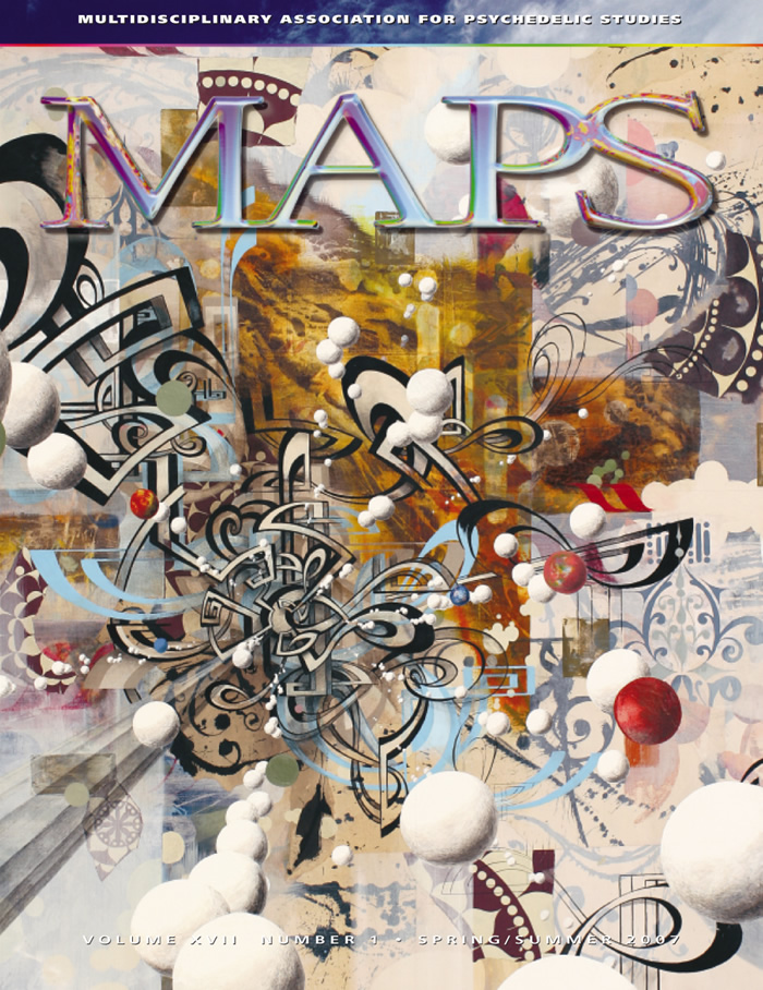 MAPS Bulletin Vol xvii No 1: Spring/Summer 2007 - Front Cover Image - Psychedelic Art - Wink by Oliver Vernon