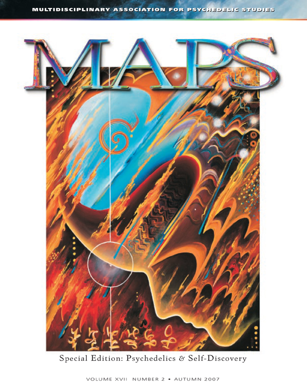 MAPS Bulletin Vol xvii No 2: Autumn 2007 - Front Cover Image - Psychedelic Art - Focus by Michael Brown