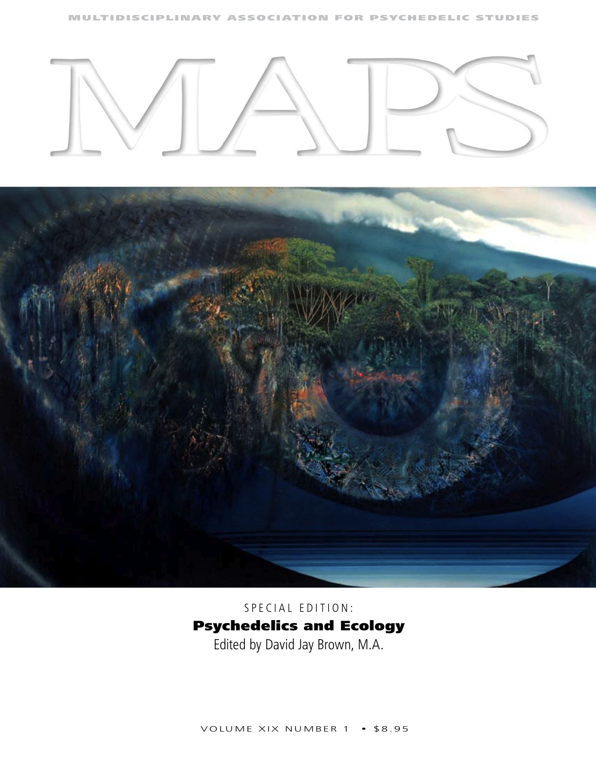 MAPS Bulletin Vol xix No 1: Spring 2009 - Front Cover Image - Psychedelic Art - From The Inside Out by Rick Harlow