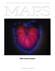 MAPS Bulletin Vol xix No 3: Autumn 2009 - Front Cover Image - Psychedelic Art - Antherium by Robert Buelteman