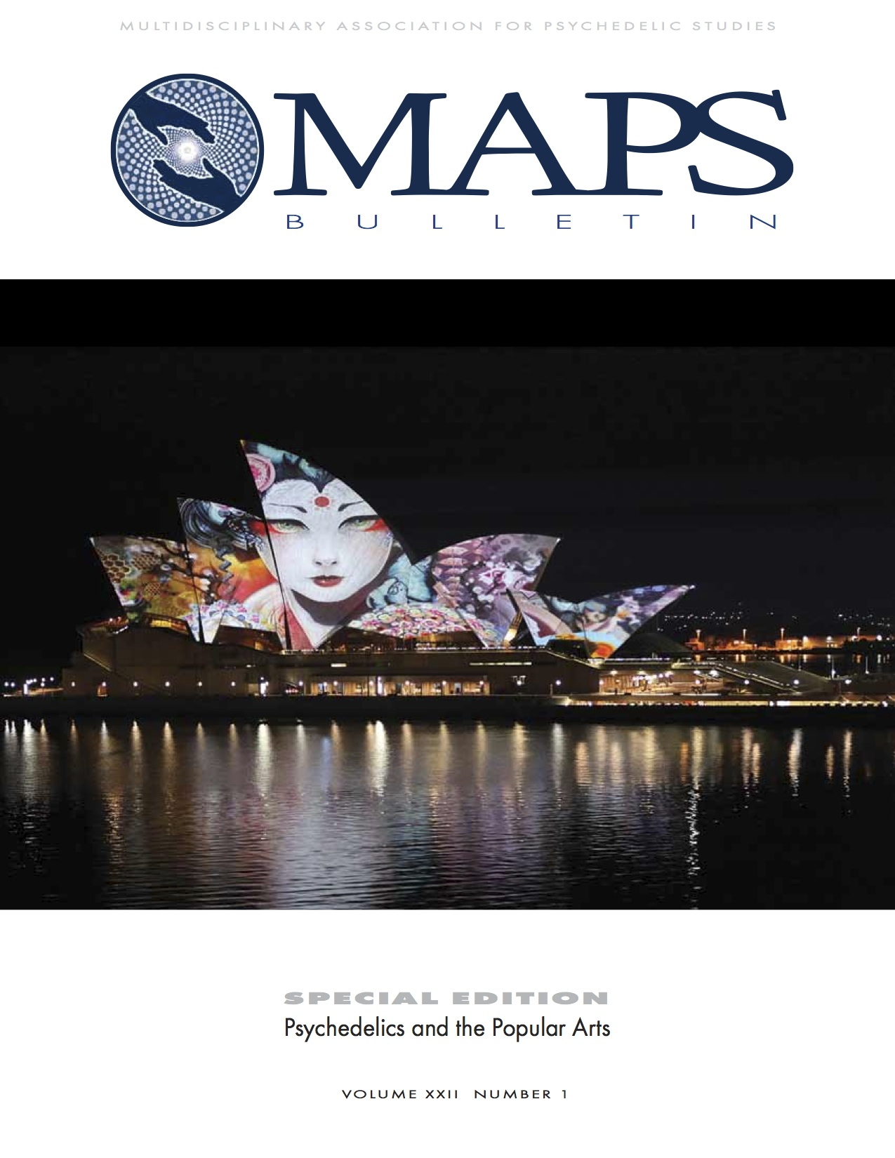 MAPS Bulletin Vol xxii No 1: Spring 2012 - Front Cover Image - Psychedelic Art -