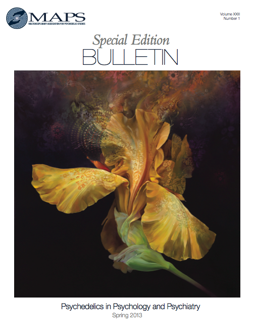 MAPS Bulletin Vol xxiii No 1: Spring 2013 - Front Cover Image - Psychedelic Art -