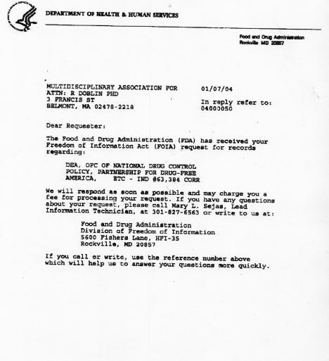foi request acknowledgement letter
