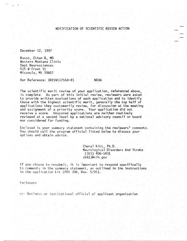 notification letter