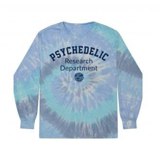 Psychedelic Research Department Long Sleeve Tie-Dye Shirt (Blue)