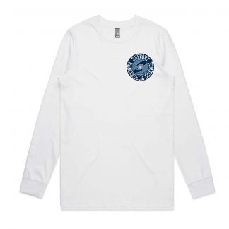 Support Psychedelic Science Crewneck Longsleeve Shirt (White)
