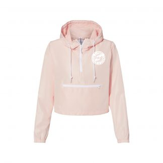 Support Psychedelic Science Cropped Women's Windbreaker (Pink)
